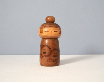 Vintage Early Creative Kokeshi Doll by Kazuo Takamizawa