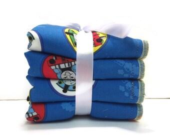 Children's Washcloths - Baby Wash Cloth Set - Baby Gift Set - Baby Boy - Kids Wash Rags - New Baby Gift Set - Baby Boy - Train Baby Gifts