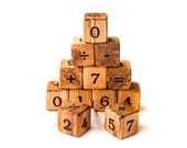 Wooden Counting Number Blocks--Baby Blocks--Natural Baby Toys--Learning Toys-Free Shipping in the US