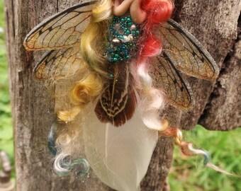 sweet fairy fairie feather tiny  ooak