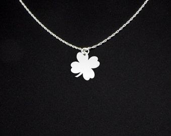 Shamrock Necklace - Four Leaf Clover Necklace - Shamrock Charm - Irish Jewelry - Irish Gift