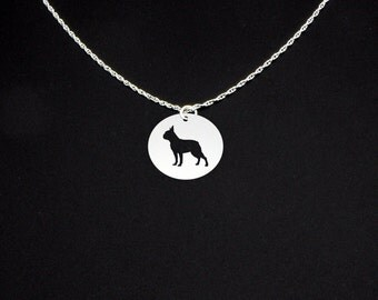 Boston Terrier Necklace - Boston Terrier Jewelry - Boston Terrier Gift