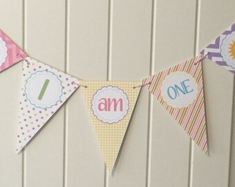 HAPPY BIRTHDAY SUNSHINE Highchair Banner 1st Birthday Party - Party Packs Available
