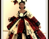 Black Art Doll Inspirational African American Art Doll Handcrafted OOAK Home Decor Valentines Day Gift