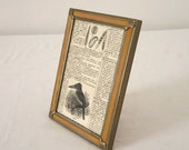 Vintage Embossed Metal 5 x 7 Picture Frame