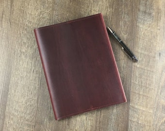 Refillable Leather Journal-Composition Size