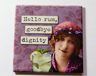 Funny Magnet, Rum, Funny Drinking Magnet, Locker Magnet, magnet, Fridge magnet, Humor, Stocking Stuffer, Funny Gift, Gift Idea (5256)