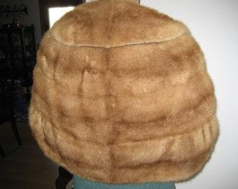Autumn Haze Mink Stole Cape -1950s Mid Century Vintage - One Size Fur Capelet- Evans Chicago