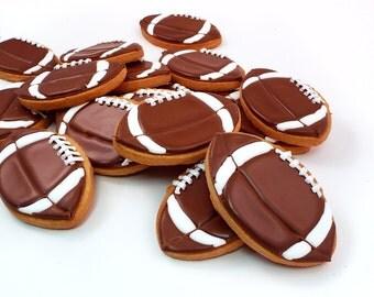 Decorated Cookies - Footballs - 1 dozen
