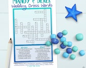 Wedding Crossword Puzzle - Bridal Shower Game / Rehearsal Dinner Activity [Printable OR Printed]