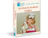 Butterfly tutorial, butterfly hair, wedding butterfly, butterfly pattern, butterfly headband, buterfly, flower making tutorial pdf