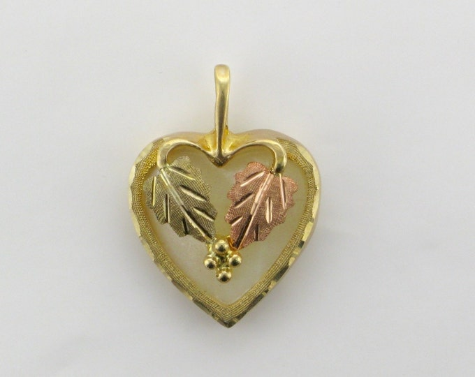 Yellow and Pink Gold Heart Pendant; Heart Pendant; Yellow and Pink Gold Pendant; Yellow and Pink Gold; Heart Pendant