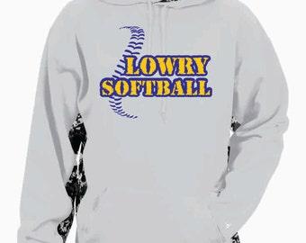 Lowry Softball Digi Camo Hoodie - Adult