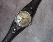 Custom steampunk  watch, modified USSR Raketa watch