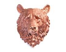 LIGHT BRONZE Large Faux Taxidermy Bear Head wall mount wall hanging / wall art / nursery decor / woodland / faux taxidermy / faux animal