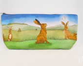 Hare Toiletry Wash Bag  Makeup Bag  Pencil Case