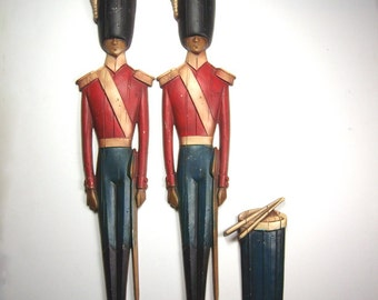 Mid Century Modern Revolutionary War Soldiers Wall Hangings by Sexton 1960s