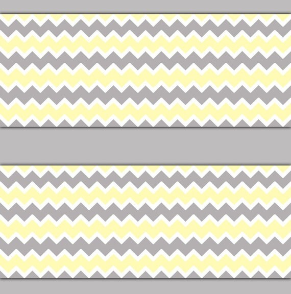 Like this item? - YELLOW GREY GRAY Chevron Wallpaper Border Wall Decal Baby Girl