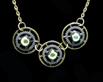 Gears of  Time & Space  Steampunk Necklace, Steampunk Jewelry