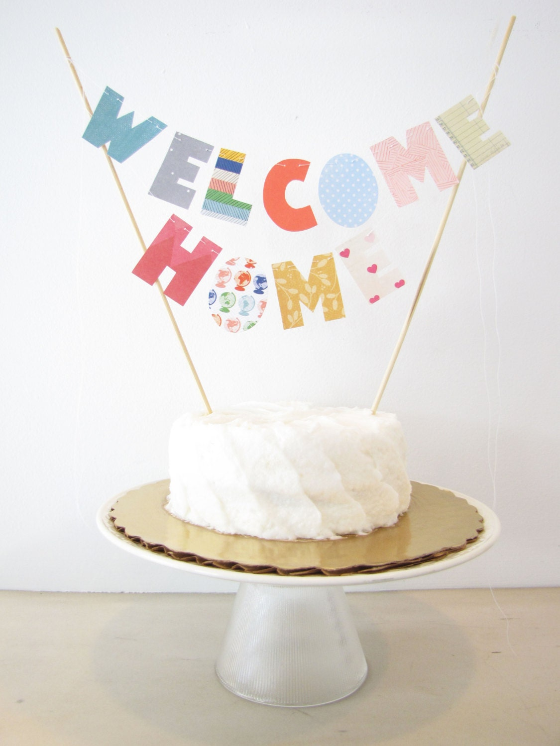 Welcome Home Cake Topper Cake Banner Personalized Cake