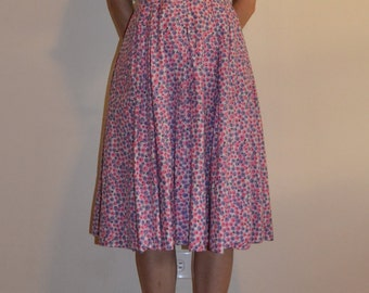 1950s Nelly Don Two Piece Berry Dress