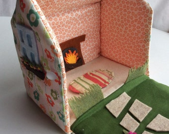 fabric cottage (coral/floral)