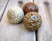 Zen Decor , Decorative  Ceramic Balls , Ceramic Pebbles, Spa Decor