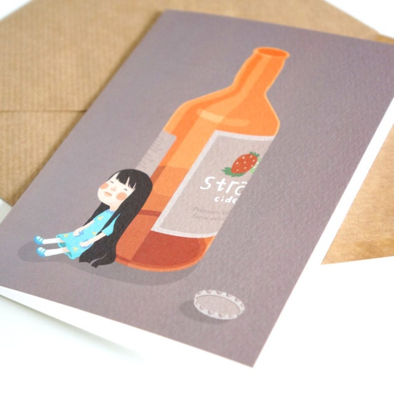 Lily have a drink birthday card