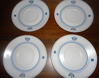 Noritake Bue Haven Saucers SET OF 4 (sale)