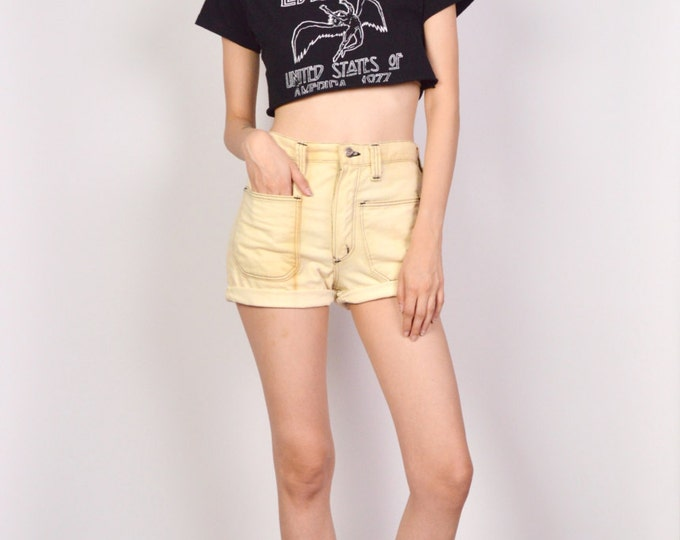 70's Wrangler High Waisted Denim Cuff Shorts Cut Off