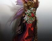 "OOAK ""CHRISTMAS FAIRY"", Hand made One of a Kind Art Doll Sculpture by Victoria Mock"