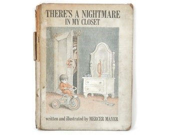 Mercer Mayer There's a Nightmare in My Closet  Fairy Tale Book 1968 First Print Ex-Library