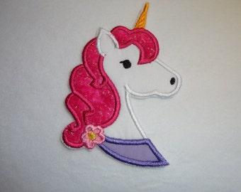 Unicorn Patch, Pink Unicorn Patch, Girly Unicorn Iron On Patch, Horse Patch