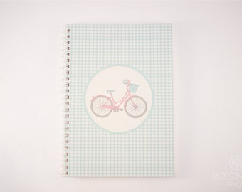 A5 50 pg Notebook - Recycled Paper. Bike