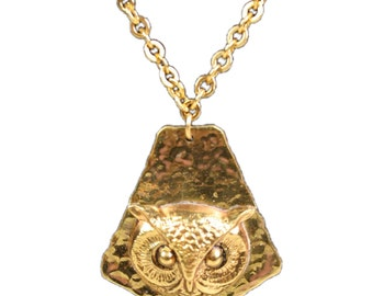 Vintage 1970's Necklace with Owl Pendant