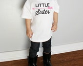 Little Sister with Arrow Baby Bodysuit or Youth T Shirts More Colors Available