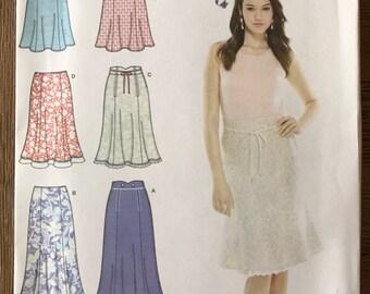 UNCUT Simplicity 3794 Skirt Sewing Pattern Size 6-8-10-12 Modest Skirt, Maxi Skirt, Midi Skirt, Easy Skirt