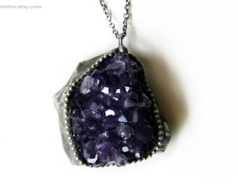 Amethyst Cluster Necklace - B