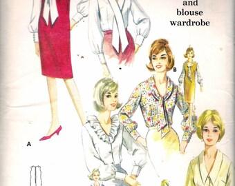 "Vintage 1960's Butterick 3226 Misses Jumper & Blouse Wardrobe Sewing Pattern Size 14 Bust 34""  UNCUT"