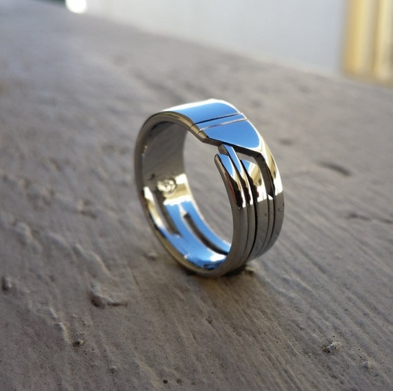 """02 """"STANCHION"""" handmade stainless steel ring (not casted)"""