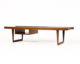 Danish Modern / Mid Century Teak Coffee Table — Sled Base — Peter Lovig for Dansk