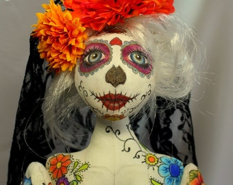 Dia de los Muertos ~ Day of the Dead ~  Sugar Skull Art Doll