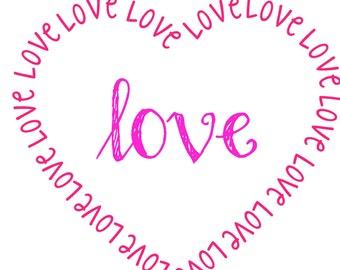 Valentines Love Printable