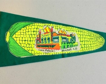 Vintage 'Corn Palace Mitchell SD' South Dakota Pennant