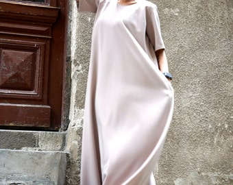 NEW Maxi Dress / Powder Pink Kaftan / Extravagant Long  Dress / Party Dress / Daywear Dress by AAKASHA A03391