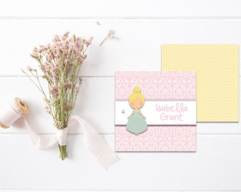 Princess Gift Tags | Kids Calling Cards | Kids Gift Tags | Mommy Calling Cards | Playdate Cards | Mommy Cards | Personalized Gift Tags