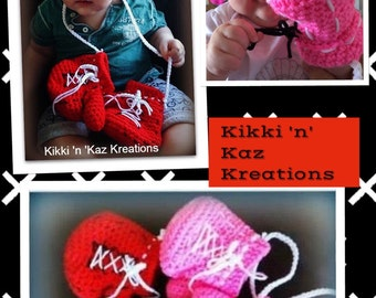 Baby's Crocheted Boxing Gloves