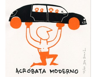 modern acrobat  (silkscreen, limited edition)