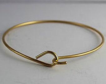 2 Brass Wire Bracelet, Cuff, Bracelet, Bangle, Charm Bracelet