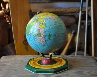 1930's Art Deco J. Chein & Co. Children's Toy Globe